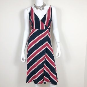 F1-21:TopShop blue and pink wrap dress size 4